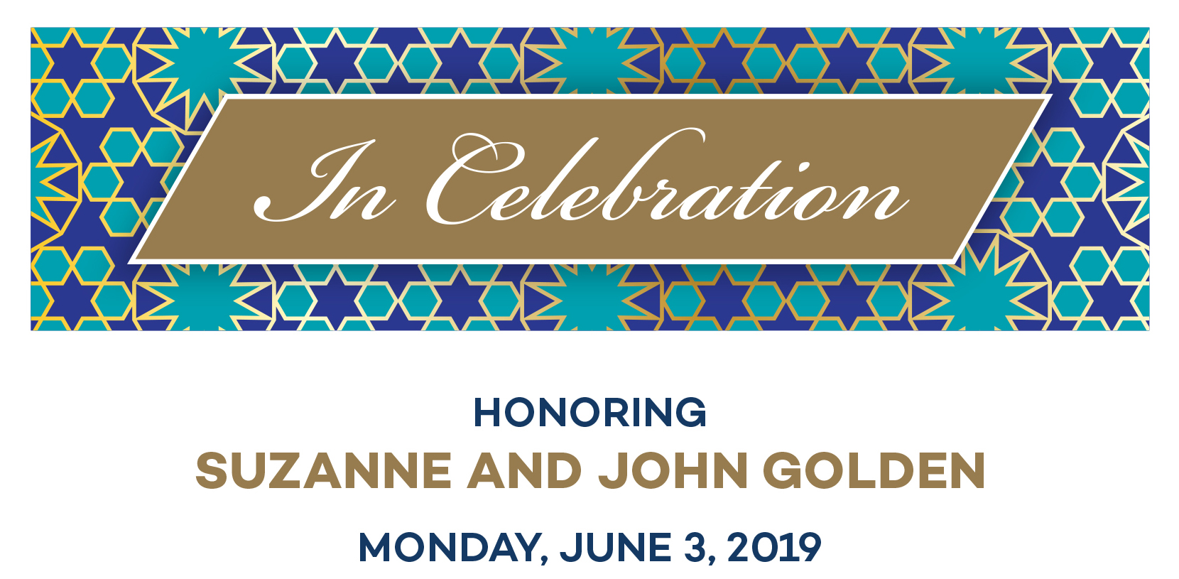 Honoring Suzanne and John Golden